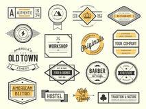 Grupo de logotipos, de crachás e de etiquetas do vintage imagens de stock royalty free