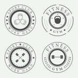 Grupo de logotipos do gym, imagens de stock