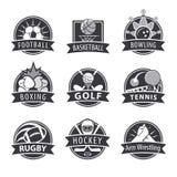 Grupo de logotipos do vetor para esportes ilustração stock