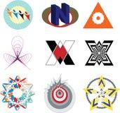 Grupo de logotipos modernos da empresa ilustração stock