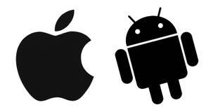 Grupo de logotipos superiores do sistema operacional do tipo ilustração royalty free