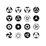 Grupo de logotipos, testes padrões geométricos, círculo, vetor 10 Foto de Stock