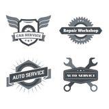 Grupo de logotypes para o mecânico, garagem, reparo do carro, serviço foto de stock royalty free