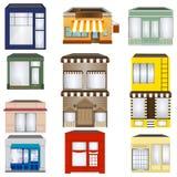 Grupo de lojas dos desenhos animados Foto de Stock