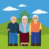Grupo de los ancianos Imagen de archivo