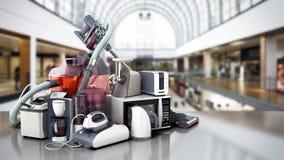 Grupo de los aparatos electrodomésticos del café mA del hierro de la microonda del aspirador libre illustration