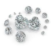 Grupo de los diamantes Fotografía de archivo libre de regalías