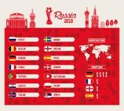 Grupo de los equipos de fútbol de Rusia libre illustration