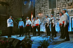 Grupo de los hombres (klapa) Omis foto de archivo libre de regalías
