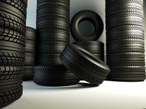Grupo de los neumáticos Foto de archivo libre de regalías
