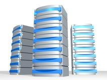 Grupo de los servidores 3D Fotografía de archivo libre de regalías