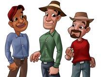Grupo de los trabajadores stock de ilustración