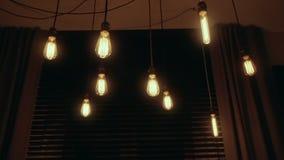 Grupo de luzes de bulbo do vintage Imagens de Stock Royalty Free