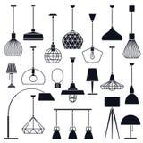 Grupo de luzes internas do vetor Foto de Stock Royalty Free