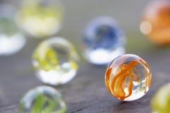 Grupo de mármores coloridos Foto de Stock