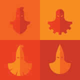 Grupo de máscaras do executor Fotos de Stock