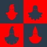 Grupo de máscaras do executor Fotografia de Stock