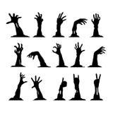 Grupo de mãos do zombi Imagem de Stock Royalty Free
