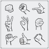 Grupo de mãos dos povos gestos diferentes Foto de Stock Royalty Free