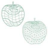 Grupo de maçãs do mosaico para colorir e projeto fácil alterar Fotos de Stock