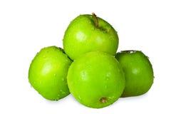 Grupo de maçãs verdes Fotografia de Stock Royalty Free