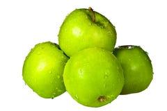 Grupo de maçãs verdes Foto de Stock Royalty Free