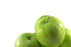 Grupo de maçãs verdes Imagem de Stock