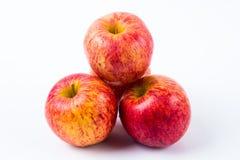 Grupo de maçãs vermelhas Fotografia de Stock