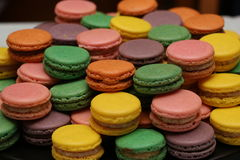 Grupo de macarons coloridos Foto de Stock