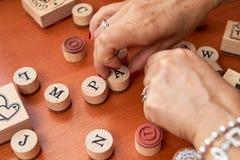 Grupo de madeira do selo de Scrapbooking imagens de stock royalty free