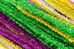 Grupo de mallas coloridas, decoración de la Navidad Imágenes de archivo libres de regalías