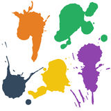 Grupo de manchas coloridas ilustração stock