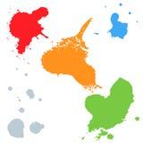 Grupo de manchas coloridas Imagem de Stock Royalty Free