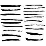 Grupo de manchas de tinta preta do vetor Imagem de Stock