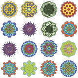 Grupo de mandalas da flor do faleidoscope Imagens de Stock