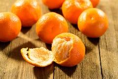 Grupo de mandarinas Imagen de archivo