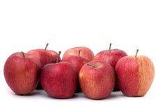 Grupo de manzanas rojas Foto de archivo