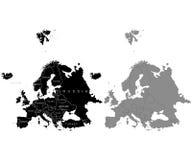 Grupo de mapa de Europa em um fundo branco ilustração royalty free