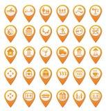 Grupo de marcações do mapa Imagem de Stock