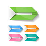 Grupo de marcador vazios coloridos, etiquetas, bandeiras, la Fotos de Stock Royalty Free