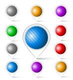 Grupo de marcadores coloridos Imagem de Stock