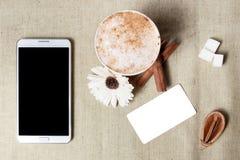 Grupo de marcagem com ferro quente do modelo da identidade do café Imagem de Stock Royalty Free
