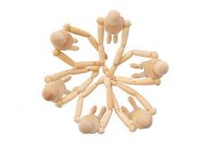 Grupo de marionetas desde arriba Fotos de archivo
