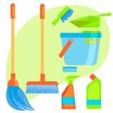 Grupo de material para limpar Imagem de Stock