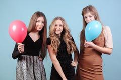Grupo de meninas bonitas no partido Fotografia de Stock