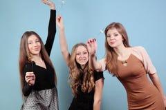 Grupo de meninas no partido Fotos de Stock Royalty Free