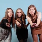 Grupo de meninas no partido Imagens de Stock