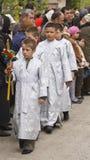 Grupo de meninos de altar Imagem de Stock Royalty Free