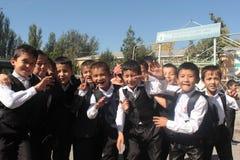 Grupo de meninos de escola Fotografia de Stock