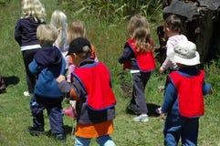 Grupo de miúdos da escola Imagens de Stock